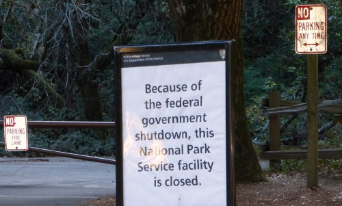 The US Govt. shut down from October 1-16 2013 prevented access to public land. If it's public land...why can't I access it?