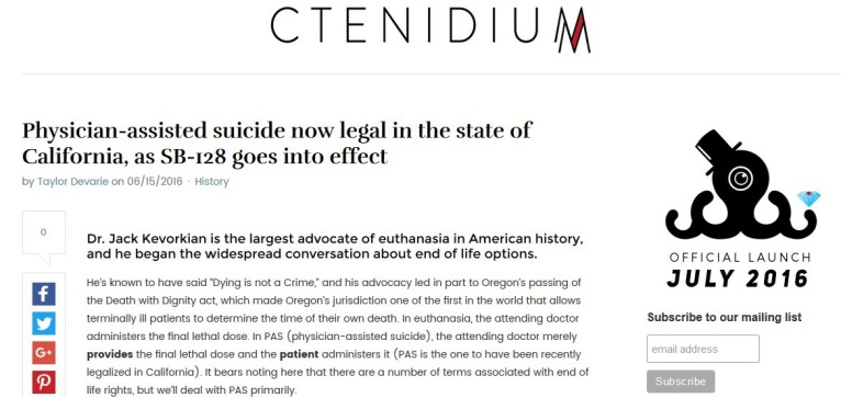 Physician-assisted suicide now legal in California