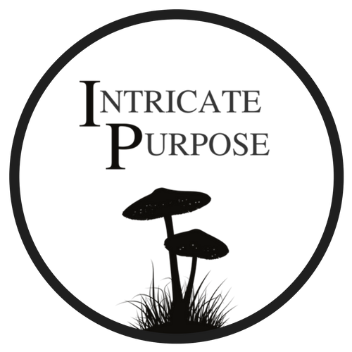 "site logo, mushrooms under ""intricate purpose"""